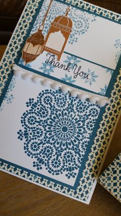 Beautiful Moroccan Nights. Card and Shaker gift box. From Yvonne's Paper Haven and Stampin' Up