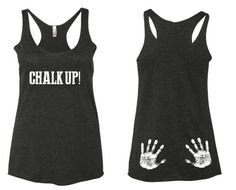 etsy Chalk Up Tank Top. Crossfit Tank Top. Lifting Tank Top. Womens Gym Tank top. In NOTES section at check out please add- ♥ Size/s Needed