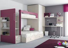 Dormitorio Infantil con Litera  Armario