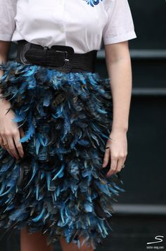 Feather #skirt from sisterMAG N° 5. Photo: @Chasing Heartbeats