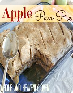 Apple Pan Pie---This pie is so comforting with it's caramel-y apple filling and flaky crust. It's perfect for any fall gatherings, and it's divine with vanilla ice cream or whipped cream.