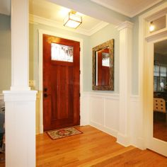 Half Column Design Ideas, Pictures, Remodel, and Decor.  Like the faux column on right.