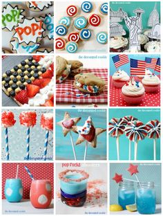 13 cookies, cupcakes and marshmallow pops for the 4th of July and Memorial Day