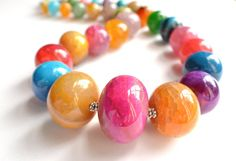 The Kelly Multi Color Agate Statement by danaleblancdesigns