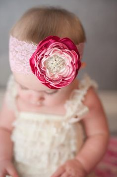 Baby+Girl+Headbands++Baby+Girl++Hair+Bow++by+LittlePearlBoutique,+$18.00