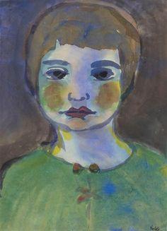 Emil Nolde, BILDNIS EINER FRAU IN GRÜNER BLUSE (PORTRAIT OF A WOMAN IN A GREEN BLOUSE)