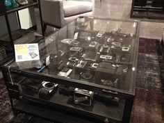 From @fourhandshome, the Shadowbox coffee table makes anything part of one's décor story. #HATtag #atlmkt