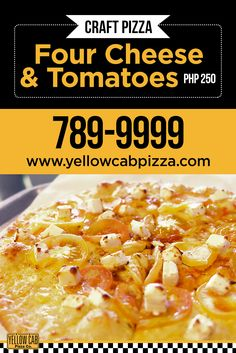 Craving for Cheesy Pizza! Pizza Special, Php, Tomatoes, Cheers, Macaroni And Cheese, Cravings, All About Time, Marketing, Yellow