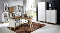 Komplettbüro 'Nordy' - Home-Office Lounge, Home Office, Corner Desk, Shelving, Ikea, Furniture, Home Decor, Small Closet Storage, Condo Design