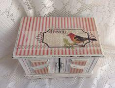 Jewelry Box Music Box Rustic Shabby Chic by LetaPearlEmporium