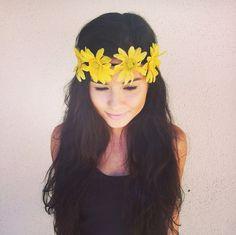 Flower Crown Headband Coachella Music by RazzleberryPuffett, $12.00