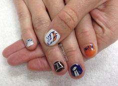 Nailed It Broncos Super Bowl #nail #nails #nailart