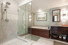 Unwind in the Blog Cabin Guest Bathroom >> http://www.diynetwork.com/blog-cabin/2015/guest-bathroom-pictures-from-diy-network-blog-cabin-2015-pictures?soc=pinterestbc15