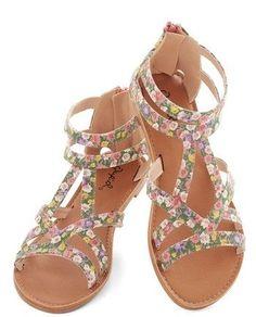 Floral Strappy Sandal