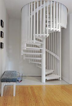 I must have a white spiral staircase