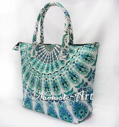 Indian Handbag 100% Cotton Handmade Women's Designer Shopping Carry Mandala Bag  #Namasteart #TotesShoppers