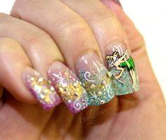 Tinker Bell by LaurenBri82 - Nail Art Gallery nailartgallery.nailsmag.com by Nails Magazine www.nailsmag.com #nailart