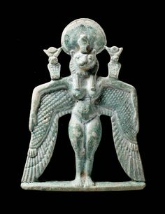 Amulet of a winged goddess  Nubian, 743–712 B.C. At Boston Museum of Fine Art.