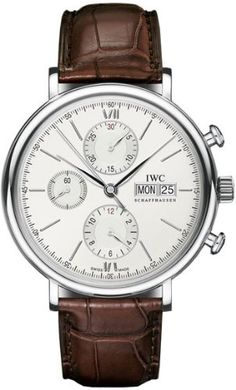 IWC Portofino Silver Dial Chronograph Brown Leather Mens Watch IW391007 IWC http://www.amazon.com/dp/B00AZWYGXK/ref=cm_sw_r_pi_dp_Mnm9tb0AWP2H6