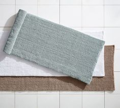 Textured Organic Bath Rug   Double Wide