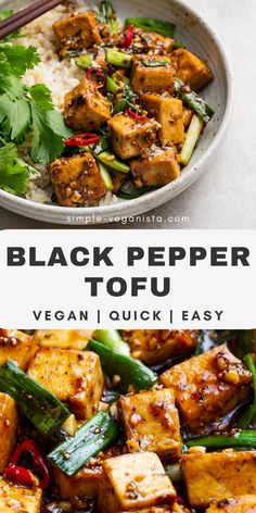 Healthy Weeknight Meals, Vegan Dinner Recipes, Vegan Recipes Easy, Asian Recipes, Whole Food Recipes, Vegetarian Recipes, Easy Meals, Cooking Recipes, Recipes With Tofu Healthy