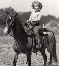 Shirley Temple on her pony Little Carnation.