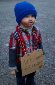 """Ben's always offended by """"Hobos"""". I should make him this for Halloween..."""