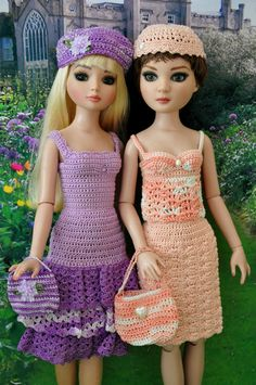 2 crochet crocheted outfits dresses Ellowyne Wilde MSD