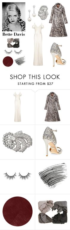 """""""Bette Davis"""" by geminae ❤ liked on Polyvore featuring Ghost, N-DUO-CONCEPT, Badgley Mischka, Bobbi Brown Cosmetics, Burberry, TARA Pearls, vintage, 30s, bettedavis and 1930s"""