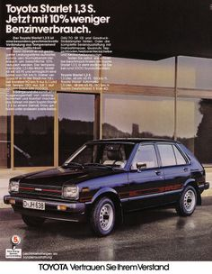 Toyota Starlet Old Poster