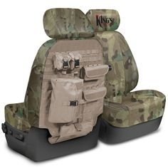 Bug out your car with a King's Arsenal tactical seat cover.