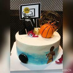 Birthday Cakes, Boy Birthday, Splatter Cake, Basketball Birthday, Cakes For Boys, Birthdays, Desserts, Baby, Crafts