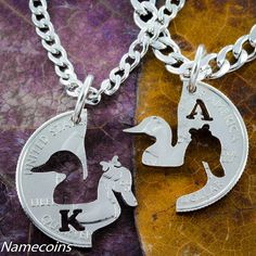 Child in Parents Hands Interlocking Necklaces Family Jewelry Set Hand Cut Coin Interlocking Relationship