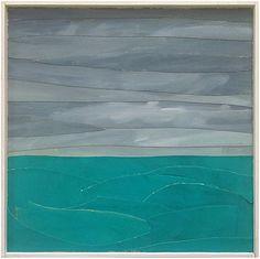 Grey Sky Over Turquoise Waters by Marie Van Elder