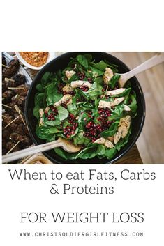 When to eat carbs, fats and proteins