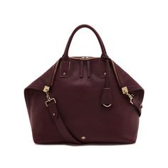Mulberry - Alice Zipped Tote in Oxblood Small Classic Grain... my current baby <3