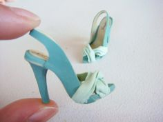 Miniature High Heel Shoes  Handmade from Polymer Clay by YinyingO, $26.00