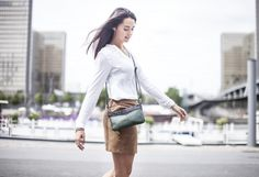 Emmy by Léa Toni - Vert - Leather bag made in Italy