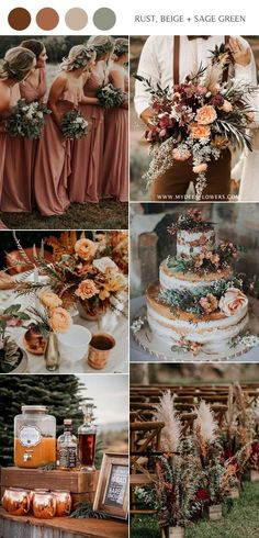 rust dusty orange beige and sage green wedding color ideas Source by nonimode. - rust dusty orange beige and sage green wedding color ideas Source by nonimode ideas fall - Sage Green Wedding, Purple Wedding, Fall Wedding Colors, October Wedding Colors, Fall Wedding Themes, Wedding Color Schemes Fall Rustic, November Wedding Colors, Country Wedding Colors, Wedding Parties