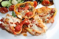 Stuffed Shells with Ricotta, Spinach, and Portobello Mushrooms