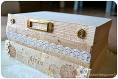 Design Stash: Pretty Projects No. 3: Tattered Vintage Book Stack