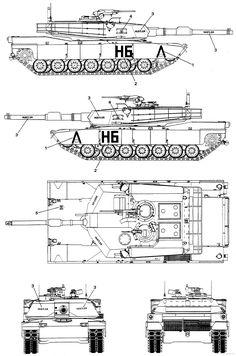 M1 Abrams Tank Blueprints