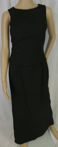 """""""SCOTT McCLINTOCK"""" LONG BLACK BEADED DRESS - PLEASE SEE ALL PICTURES"""