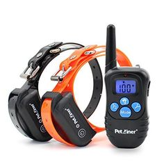 Petrainer 330 Yards Remote Training E-collar Pet998dbb Rechargeable and Waterproof Dog Training Collar for 2 Dogs Shock Collar with Safe Beep, Vibration and Shock Electronic Electric Collar for Medium or Large Dog Trainer with Newly Upgraded-blue Backlight Screen by Petrainer via https://www.bittopper.com/item/132514987d3ef00c55bba2cb864e42959b1d4c/ebitshopa7e5/