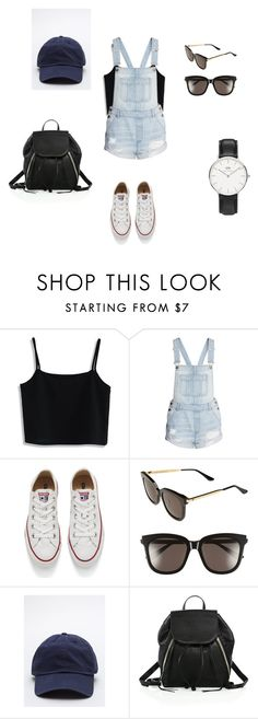 """""""Theme Park Outfit"""" by hellabeast on Polyvore featuring Chicwish, H&M, Converse, Gentle Monster, Rebecca Minkoff and Daniel Wellington"""