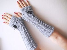 Items similar to Knit fingerless gloves Gray gloves ktitted fingerless mittens boho glove Long arm warmers Wrist hand warmers hand knitted gift for her on Etsy Knitted Gloves, Fingerless Gloves, Hand Knitting, Knitting Ideas, Arm Warmers, Mittens, I Shop, Yellow, Trending Outfits