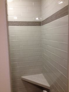 bathroom shower 4x4 travertine stone with quarter rounds trimm