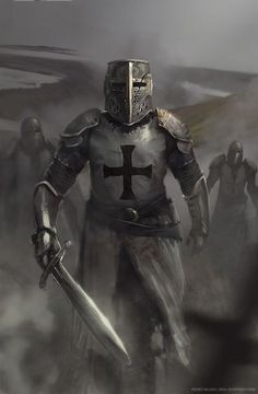 Discover Knight Templar Warrior Sweatshirt from Knights Templar Men's Clothing, a custom product made just for you by Teespring. - Beautiful and quality Knight Templar. Crusader Knight, Knight Armor, Medieval Knight, Medieval Fantasy, Paladin, Fantasy Warrior, Fantasy Art, Vikings, Illustration Fantasy