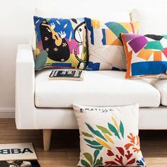 Geometric Pop Art pillow modern minimalist design cushions 18 inch