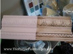 I want to try Annie Sloan's Dark Wax over my Chalk Paint® but want to know what it will look like before I do it!  Well- read this post here=>  http://www.thepurplepaintedlady.com/2012/07/dont-be-afraid-of-the-dark-dark-wax-by-annie-sloan-that-is/